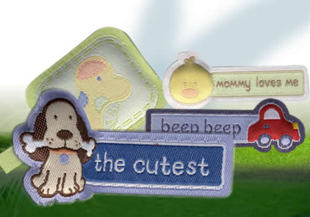 Pillow Woven Labels, Puff Labels, Yarn Injection Labels, or Padded Labels